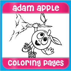 Adam Apple Coloring Pages