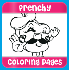 Frenchy Coloring Pages