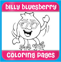 Billy Bluesberry Coloring Pages