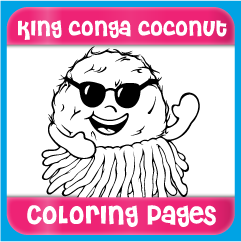 King Conga Coconut Coloring Pages
