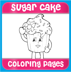 Sugar Cake Coloring Pages